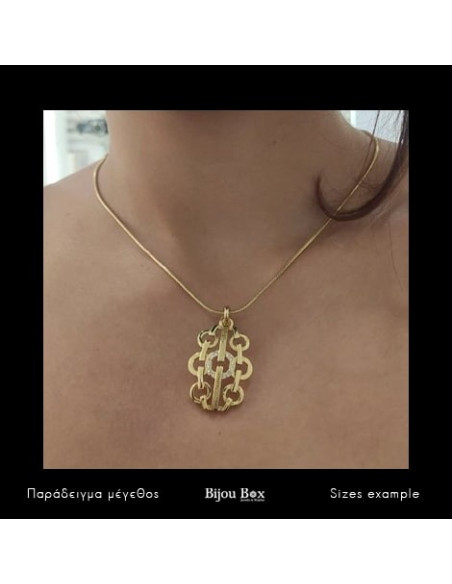 Necklace gold plated OLEE 2
