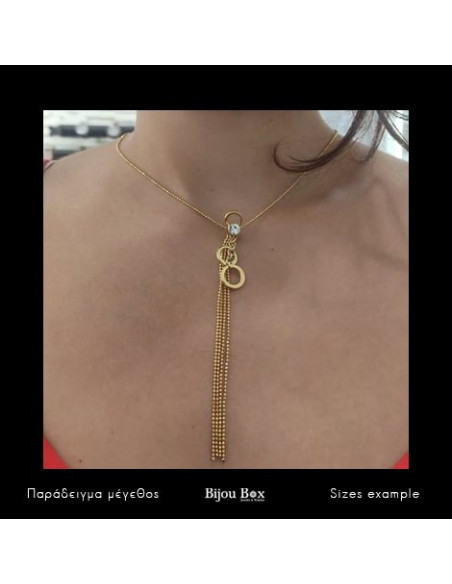 Necklace gold plated TIE 2