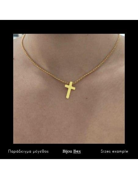 Κολιέ με σταυρός χρυσό STAYRO 3
