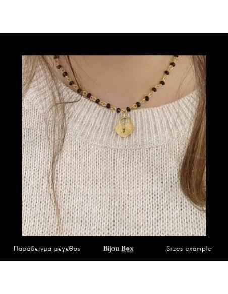 Halskette mit Bronze Anhänger gold LOVE KEY 2
