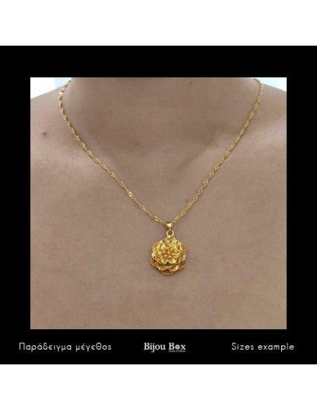 Necklace flower gold OPLA 2