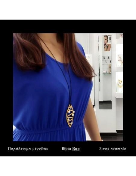 Long necklace with bronze pendant gold DANDELIO 2
