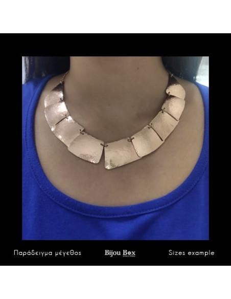 Kragen Halskette aus Bronze handgemacht rosegold LIFE 2