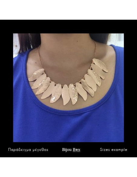 Collar Necklace of bronze rose gold ILOR 2