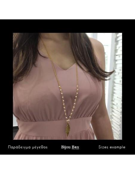 Lange Halskette aus Bronze gold BLATT 2