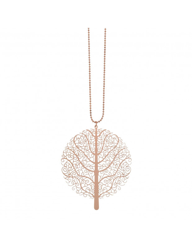 VISETTI necklace tree of life NI-WKD011R of brass rose gold