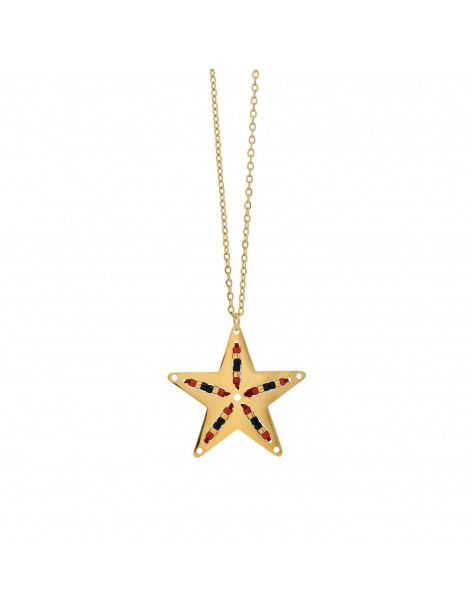 VISETTI necklace star NI-WKD012G of brass with pearls gold
