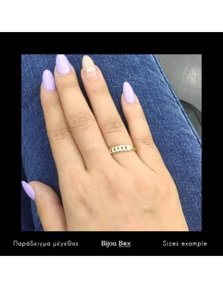 Silverring with crystal gold ONTA 2