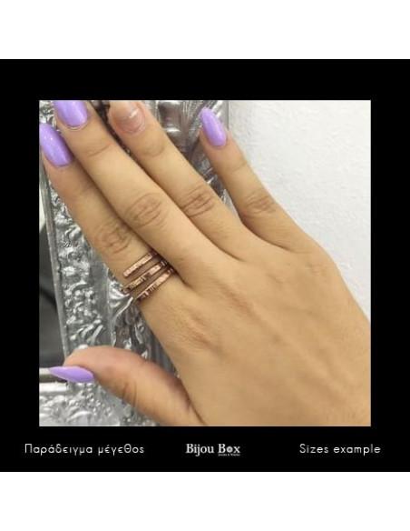 Δαχτυλίδι από μπρούτζο ροζ χρυσό RESE 2
