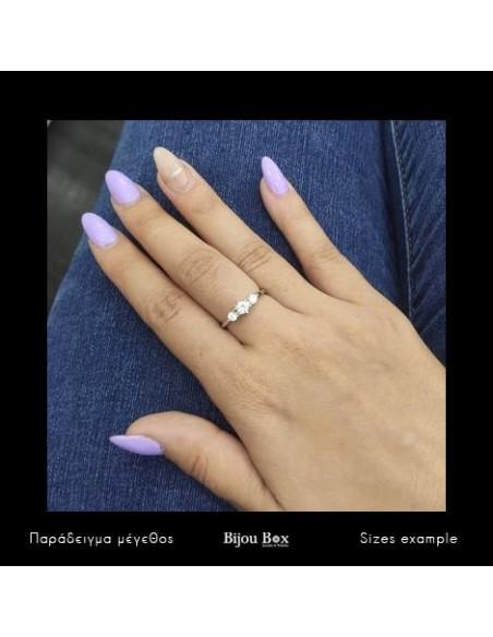 Solitär Ring aus Silber 925 mit Zirkon RIO 2