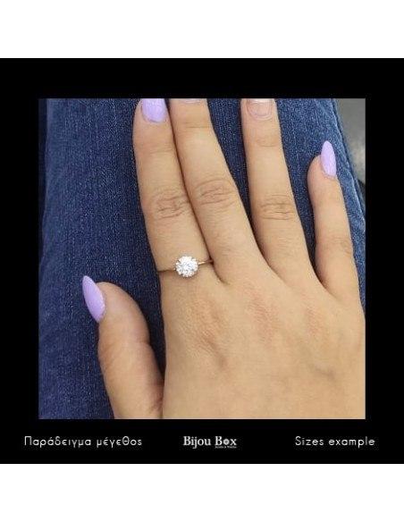 Solitär Ring aus Silber 925 mit Zirkonia Stein rosegold MIO 2