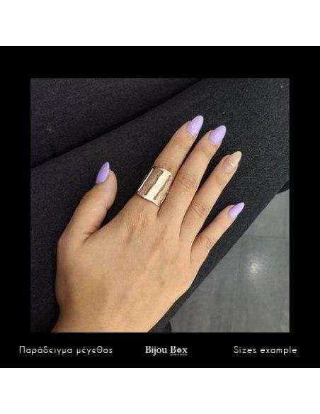 Ring aus Bronze handgefertigt rosegold RAIN 2