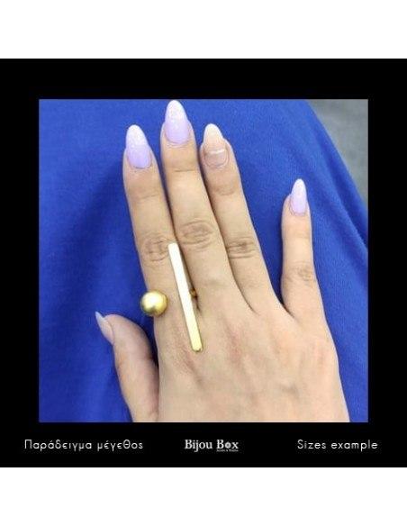 Ring of bronze minimal gold TIM 2