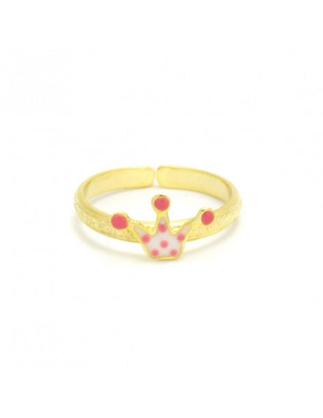Kid Ring for girls of 925 silver crown gold KILI
