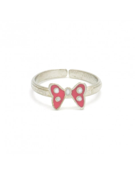 Kid Ring for girls of 925 silver ribbon KEKE