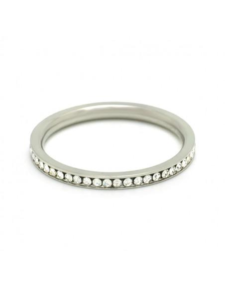 Δαχτυλίδι από ατσάλι με ζιργκόν SEIRA 3