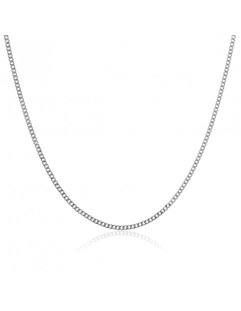 Necklace 55 cm unisex chain of stainless steel silver BASE