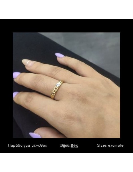 Ring with crystals gold ALOHA 2