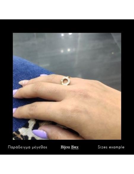 Δαχτυλίδι με ζιργκόν χρυσό NYSRO 2