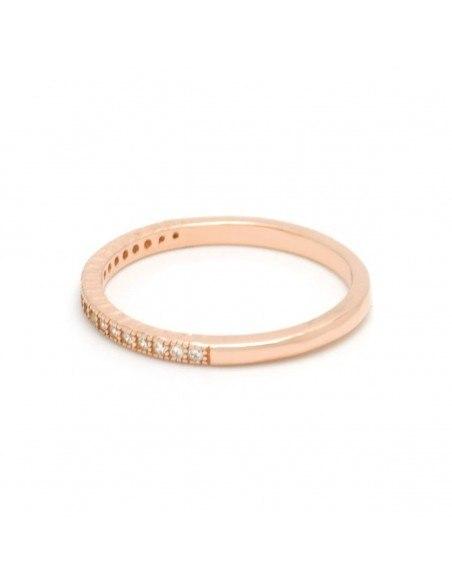 Ασημένιο Δαχτυλίδι με ζιργκόν ροζ χρυσό NESOI 2