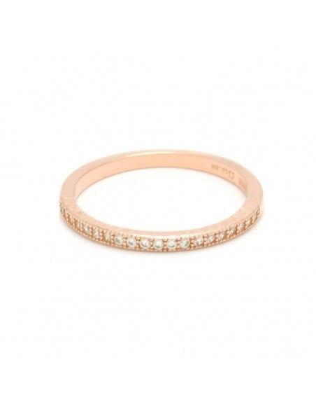 Ασημένιο Δαχτυλίδι με ζιργκόν ροζ χρυσό NESOI
