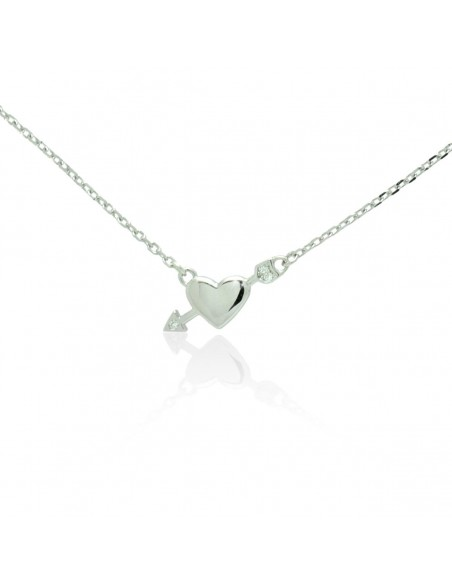 Sterling silver necklace with heart and crystals LOREVI