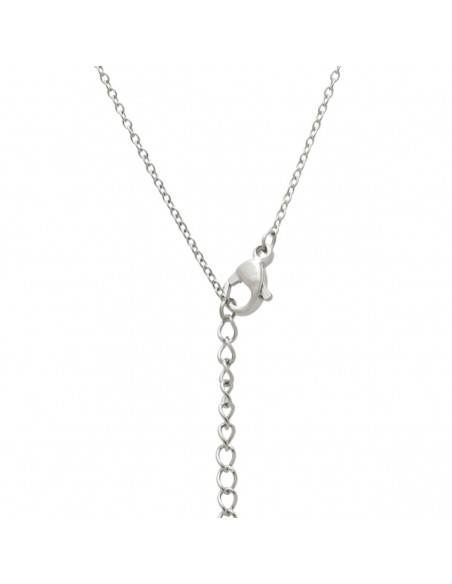 Sterling silver necklace Infinity with heart and crystals LEVOI 2