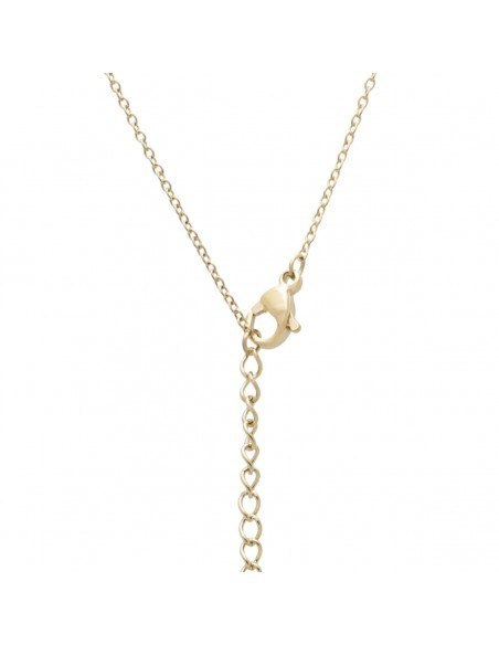 Sterling silver necklace with pendants and crystals gold WIOI 2