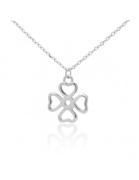 Sterling silver necklace with cloverleaf ERNE
