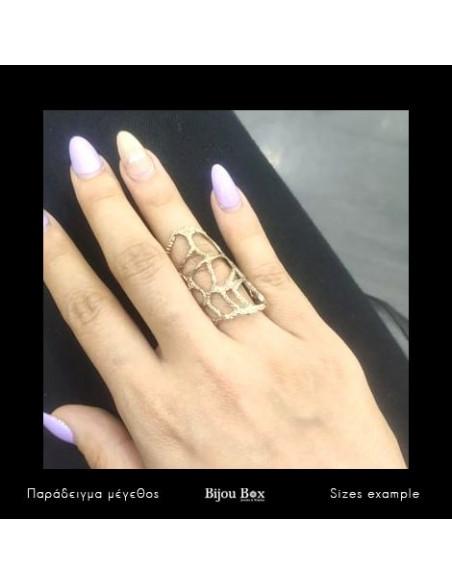 Δαχτυλίδι αρχαιοελληνικό από μπρούτζο ροζ χρυσό VERDANDI 2