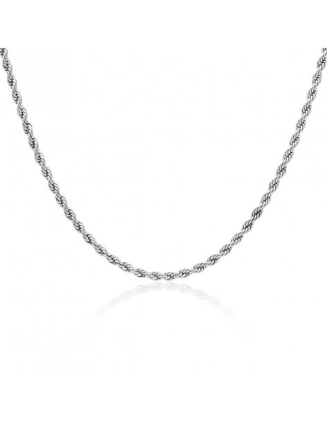 Chain of stainless steel 40 - 45cm silver 3mm TASSINI