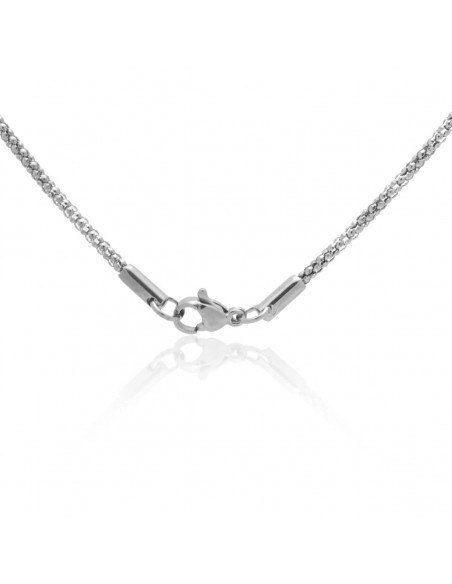 Chain of stainless steel 55cm silver TRAIL 2