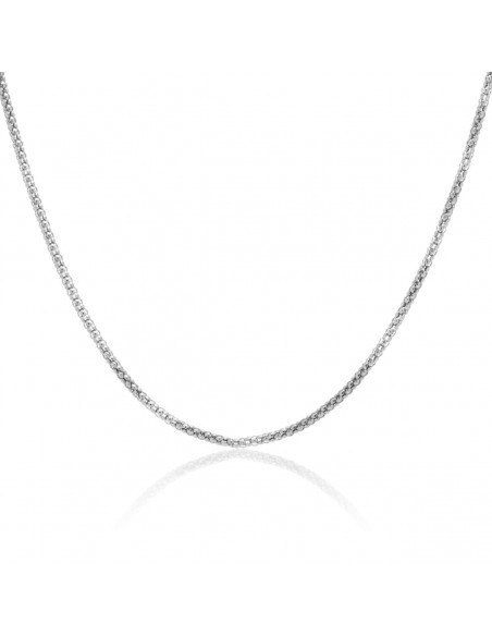 Chain of stainless steel 55cm silver TRAIL