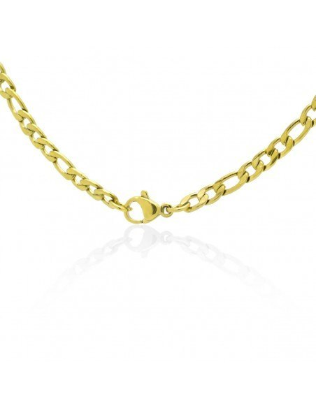 Chain of stainless steel 45cm gold 4mm TANO 2