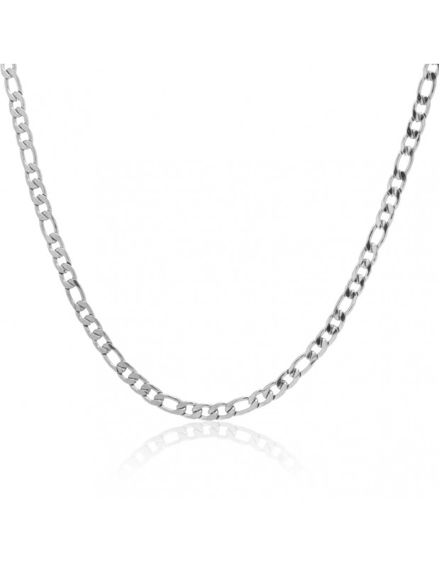 Chain of stainless steel 45cm silver 4mm TANO