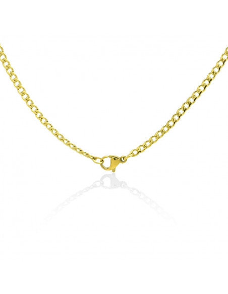 Chain of stainless steel 45cm gold 3mm TAROL 2