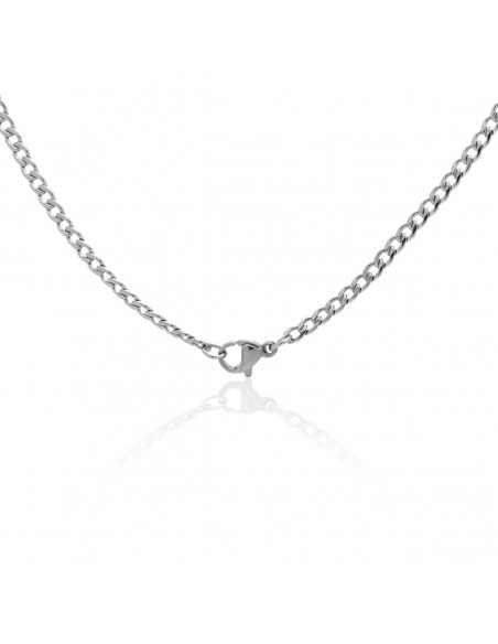 Chain of stainless steel 45cm silver 3mm TAROL 2