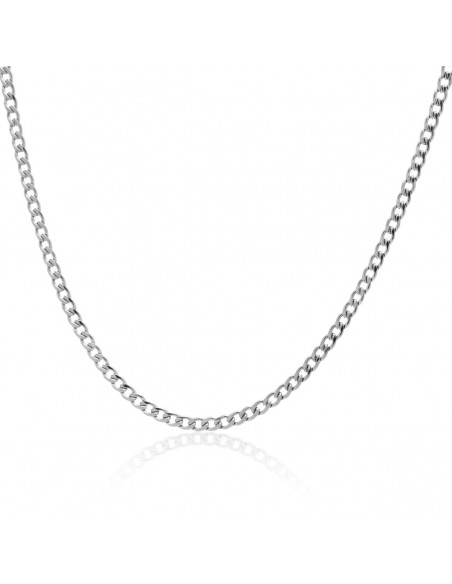 Chain of stainless steel 45cm silver 3mm TAROL
