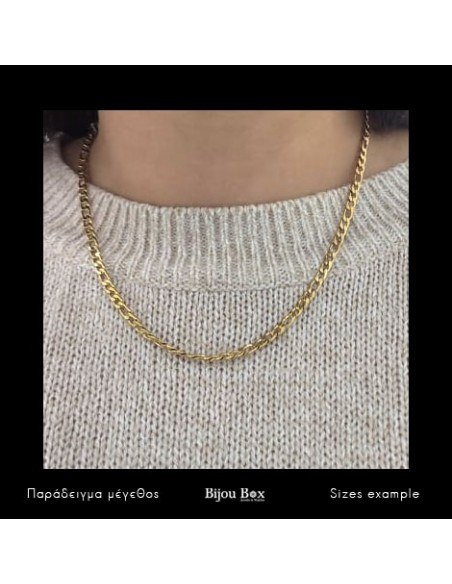 Chain of stainless steel 45cm gold 4mm TANO 3