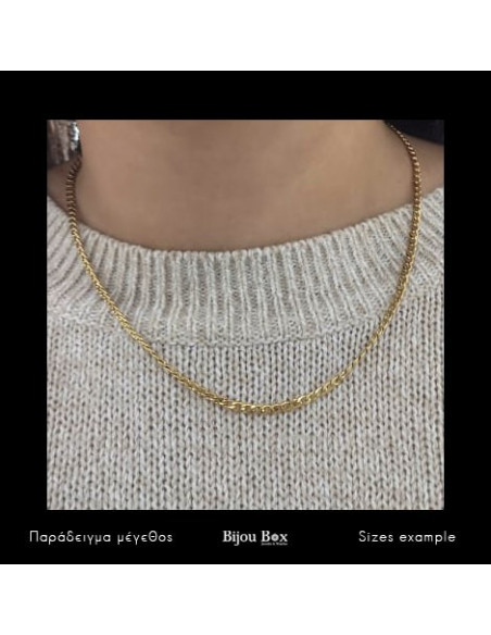 Chain of stainless steel 45cm gold 3mm TAROL 3
