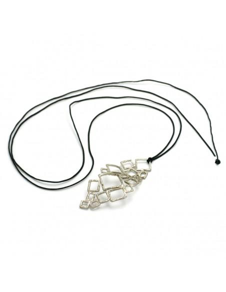 Long necklace of bronze handmade silver FELI 3