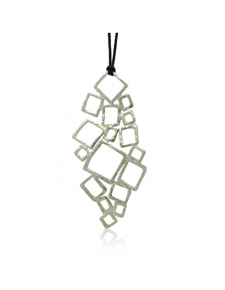 Long necklace of bronze handmade silver FELI