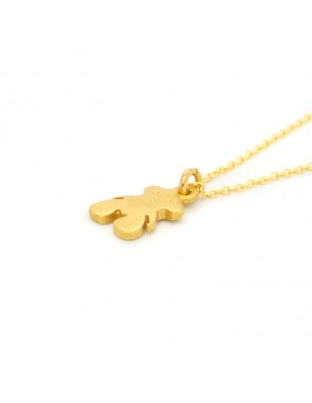 Ασημένιο Κολιέ με αρκούδα χρυσό BEAR 2