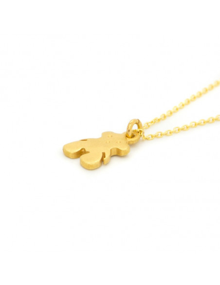 Silver Necklace gold BEAR 2