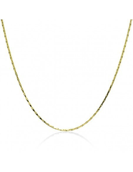 Chain of stainless steel 40 - 45cm gold 1mm TOTOI