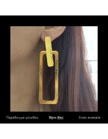Long earrings of bronze handmade gold PRINCE 2