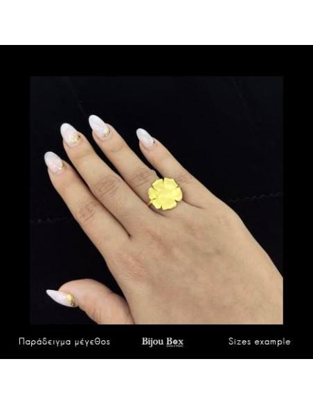 Δαχτυλίδι από μπρούτζο χειροποίητο χρυσό LAKI 2