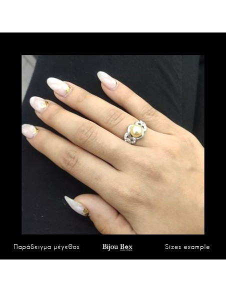Pearl Ring with crystals silver TAGEA 2