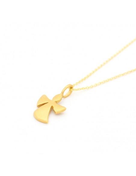 Ασημένιο Κολιέ χρυσό ANGELOS 2