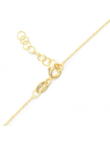 Silver Necklace with star gold ASTERI 3